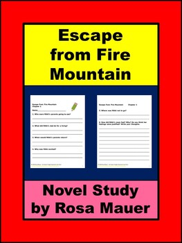 Escape from Fire Mountain by Gary Paulsen Book Unit