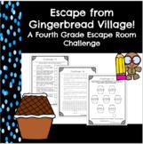 Escape from Gingerbread Village-A 4th Grade Math Escape Room