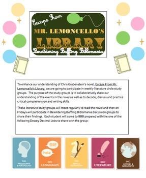 Escape from Mr. Lemoncello's Library Literature Circles
