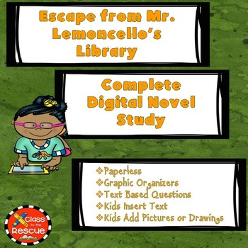 Escape from Mr. Lemoncello's Library Digital Novel Study