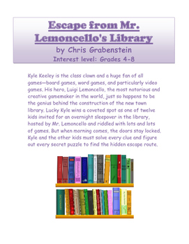 Escape from Mr. Lemoncello's Library: Novel Study Guide with Signposts (CCSS)
