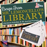 Escape from Mr. Lemoncello's Library Reading Journal Prompts 56 Questions