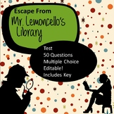 Escape from Mr. Lemoncello's Library Test
