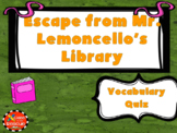 Escape from Mr. Lemoncello's Library Vocabulary Boom Cards