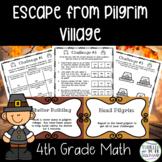 Escape from Pilgrim Village-A 4th Grade Math Thanksgiving Escape Room