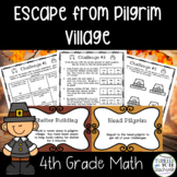 Escape from Pilgrim Village-A 4th Grade Math Thanksgiving