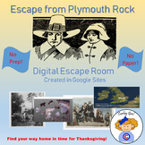 Escape from Plymouth Rock Thanksgiving Digital Escape Room