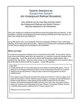 Escape from School!  An Underground Railroad Simulation