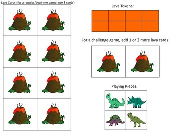 Escape from the Lava! Dinosaur-Themed Cooperative Game