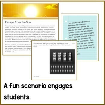 Escape from the Sun - Google Order of Operations Escape Room - Distance Learning
