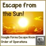 Escape from the Sun - Google Order of Operations Escape Ro