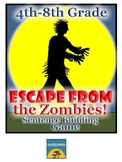 Escape from the Zombies! Sentence Building Game-4th-8th Grade