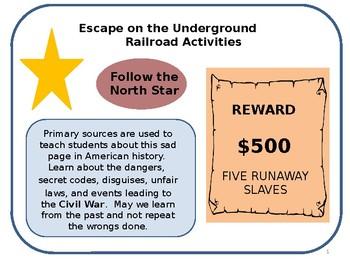 Escape on the Underground Railroad Activities