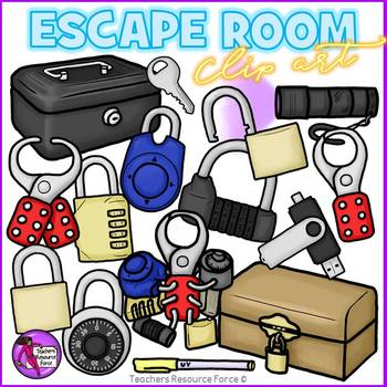 Escape room / Break out clip art