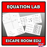Escape room edu - Equation lab