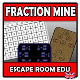 Escape room edu - Fraction mine (operations with fractions)