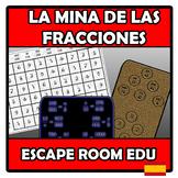 Escape room edu - La mina de las fracciones