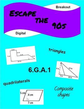 Escape the 90s Digital Geometry Breakout (6.G.A.1)