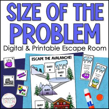 Escape the Avalanche! Size of Problem Escape Room - School Counseling