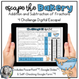 Escape the Bakery Adding and Subtracting Fractions