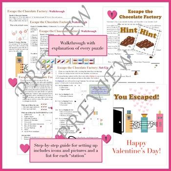 Escape the Chocolate Factory: A Valentine's Day Escape Room Activity (NO PREP)