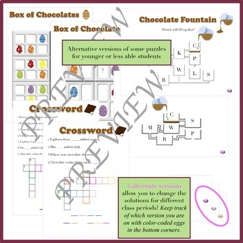 Escape the Chocolate Factory: An Easter Escape Room Activity (NO PREP)
