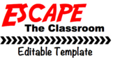 Escape the Classroom Editable Template