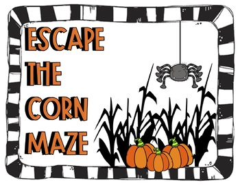 Escape the Corn Maze: Halloween Spiral Review for ELA and Math