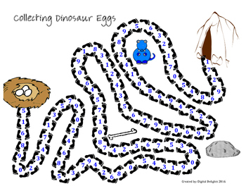 Escape the Dinosaur - Easy Division Game