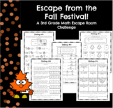 Escape the Fall Festival-A 3rd Grade Math Escape Challenge
