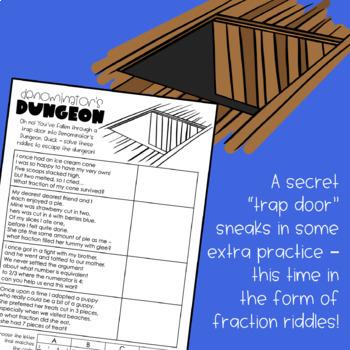 Escape the Fraction Fortress! Fractions Digital Breakout
