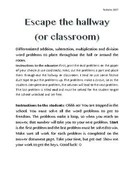 Escape the Hallway (Classroom)