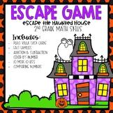 Escape the Haunted House Escape Room 2nd grade Math Skills
