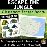 Escape the Jungle: Classroom Escape Room for Grades 3-4