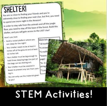 Escape the Jungle: Classroom Escape Room for Grades 3-4