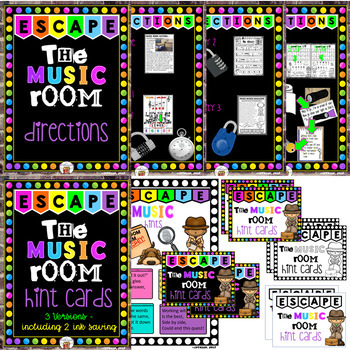 Escape the Music (Music Room Mayhem) - An Unlock the Box Activity Set