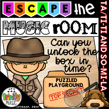 Escape the Music (Puzzled Playground) - An Unlock the Box Activity Set