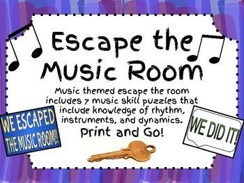 Escape the Music Room!! 7 Music Puzzles to Escape the Room