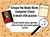 Escape the Music Room: Composer Chaos 6 Music Skill Puzzle