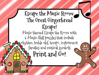 Escape the Music Room: The Great Gingerbread Escape! 6 Musical Puzzles