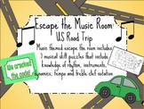 Escape the Music Room!! US Road Trip: 7 Music Puzzles to Escape the Room