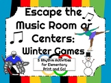Escape the Music Room or Centers: Winter Rhythm Games