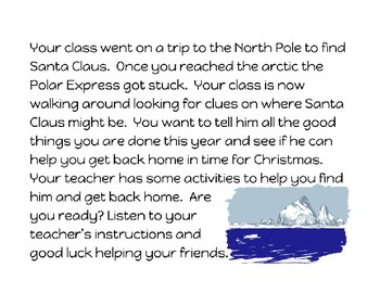 Escape the North Pole (counting and addition activities)