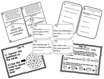 Escape the Ordinary! 4th Grade Revising and Editing Lock Box Games BUNDLE!
