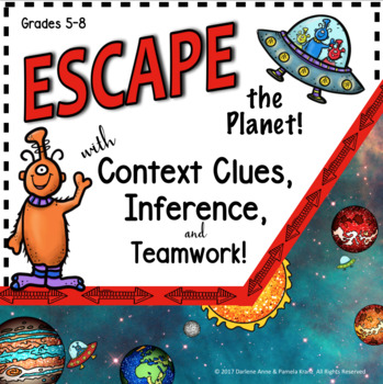 ESCAPE ROOM CONTEXT CLUES & INFERENCES BREAKOUT FOR MIDDLE SCHOOL ENGLISH
