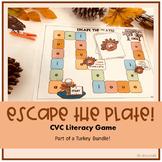 Escape the Plate: CVC Short Vowel Sounds Literacy Game