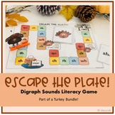 Escape the Plate: Digraph Sounds Literacy Board Game