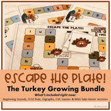Escape the Plate Literacy Board Game GROWING BUNDLE