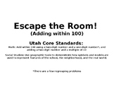 Escape the Room! Adding within 100 with maps