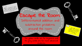 Escape the Room: Double and triple digit addition and subt